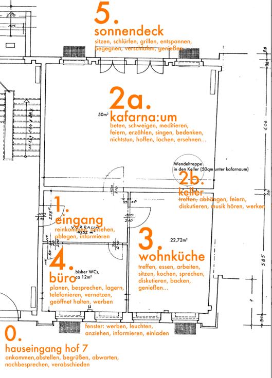 Grundriss kafarna:um Hauskirche