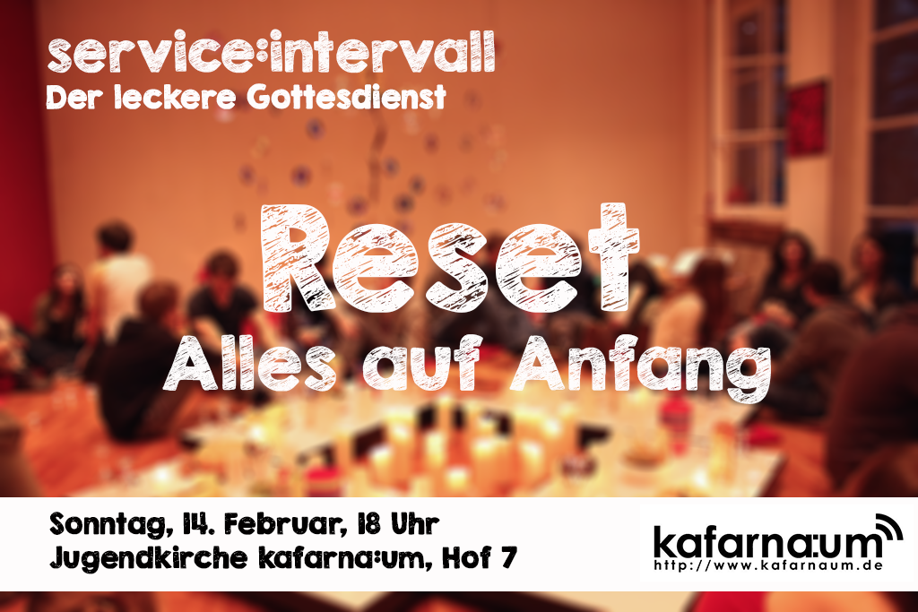 Reset – Alles auf Anfang
