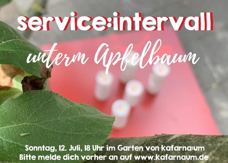 service:intervall am 12. Juli